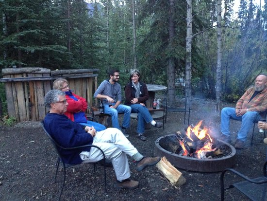 McKinley Creekside Cabins: The Firepit In Use