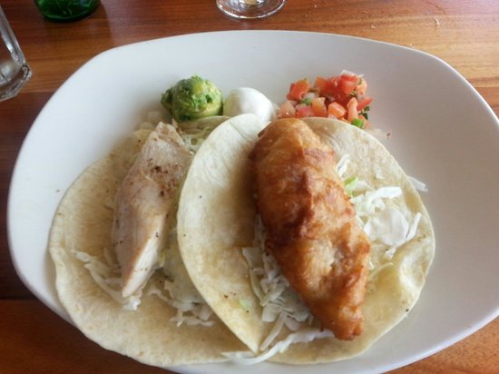 Fish Tacos One Beer Battered And One Grilled Picture Of