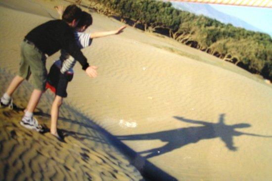 VClub Agadir: Making shadows on the beach dunes