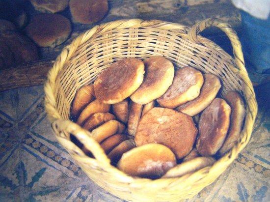 VClub Agadir: Freshly made bread/rolls. Marrakesh shuk