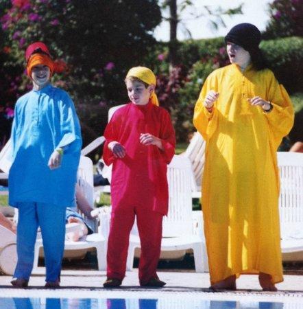 VClub Agadir: Our boys in the kids' club fashion show, Moroccan-style!