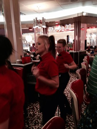 Party time at Johnny Rockets!!