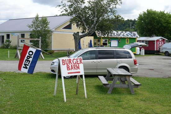 Burger Barn: Pull up a picnic table and have lunch!