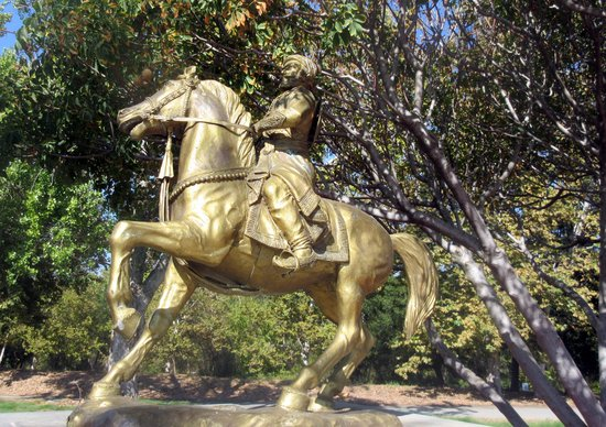 Sister City of San Jose - Puna, India - Statue Guadalupe River Trail area (by Heritage Rose Gard