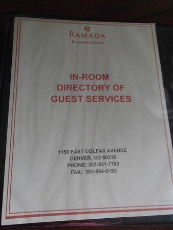 Ramada Denver Downtown: menu