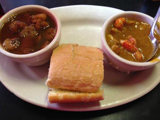 Herby-K's Restaurant : Etouffee and gumbo sampler
