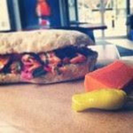 Riversdale Delicatessen and Market: trout sandwich