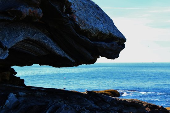 Pemaquid Point Lighthouse: Neat rock formations