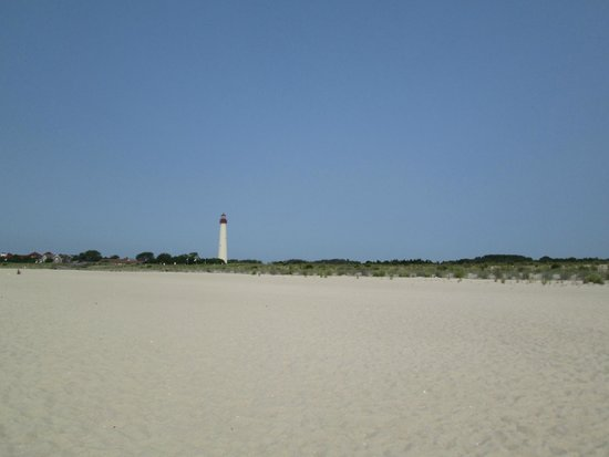 Cape May Lighthouse: View of Lighthouse From Beach