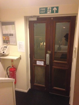 Stockwood Hotel: The exit door for guests