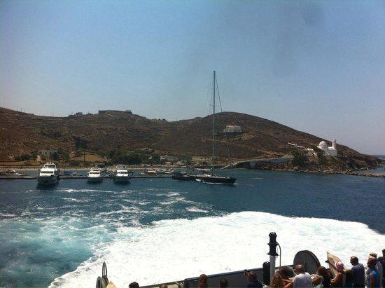 Hellenic Seaways: Departing from Santorini....