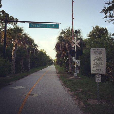 Sarasota start of legacy trail