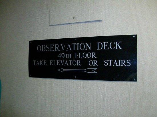 Hilton Cincinnati Netherland Plaza: Observation Deck