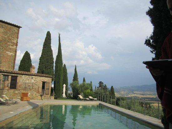 Castello Banfi - Il Borgo: The pool area with the magnificent vue