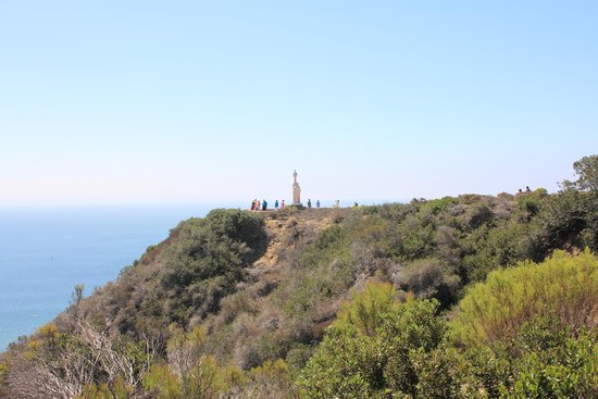 Cabrillo National Monument: the monument  from the lighthouse