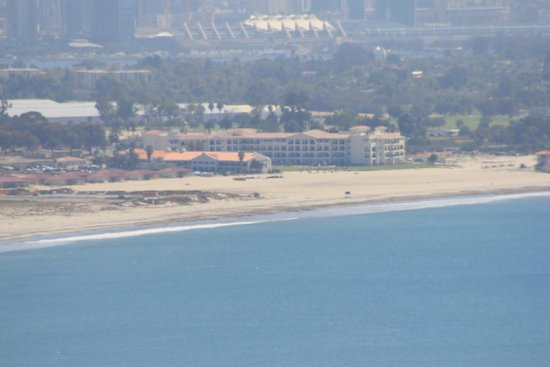 Cabrillo National Monument: our hotel on Coronado across the bay