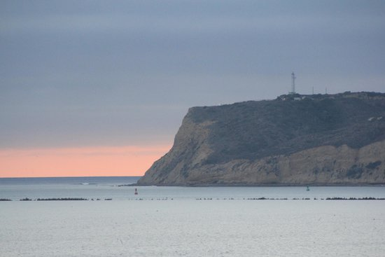 Cabrillo National Monument: view of the National Park cliff from our hotel!