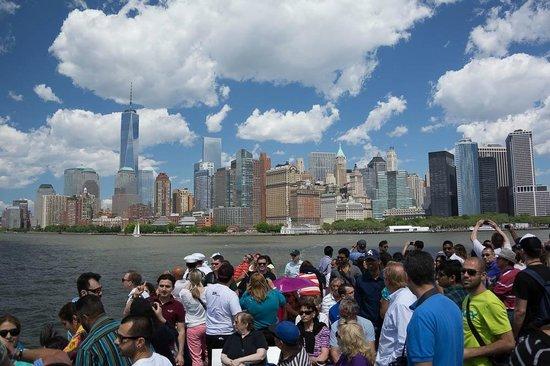 Ellis Island : The ferry ride, Manhattan Sky Line