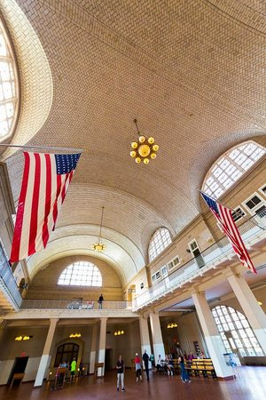 Ellis Island : Gorgeous construction of main processing room - they just don't build them like that anymore