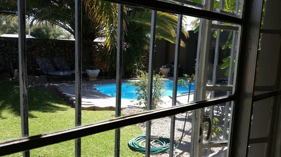 Bush Pillow Guest House: Room with poolside view