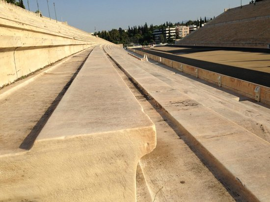Panathenaic Stadium: taken from the stand looking over the track