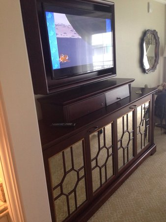 Disney's Grand Floridian Resort & Spa: Bed folds out from tv stand no storage here