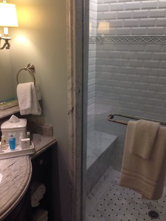Disney's Grand Floridian Resort & Spa: One of 2 showers in the studio