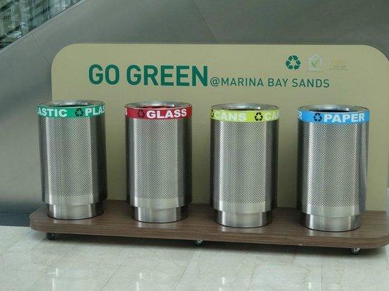 Marina Bay Sands: 分別に協力を