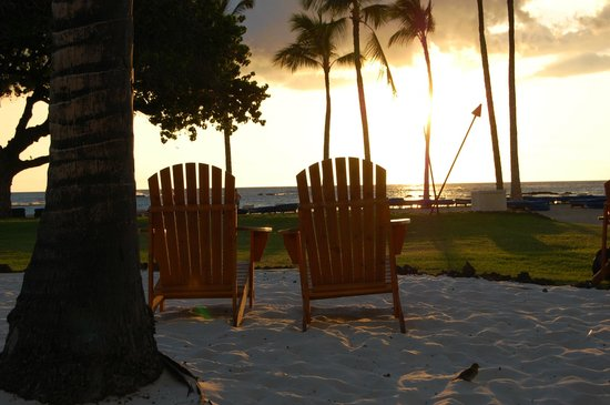 Ocean Bar & Grill: Some of the new Adirondack chairs and view from the Ocean Grill.