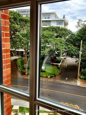 Oak Bay Beach Hotel : Garden view from regular view
