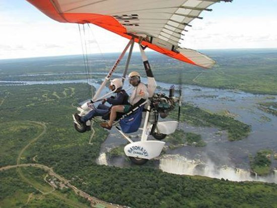 Mosi-oa-Tunya / Victoria Falls National Park: I rented a micro light and flew above the falls.