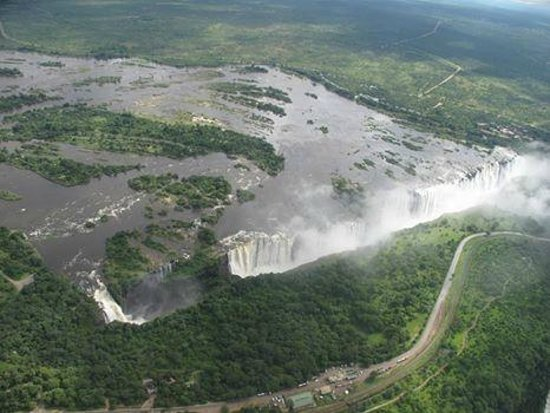 Mosi-oa-Tunya / Victoria Falls National Park: Micro light flight over Zimbabwe side.