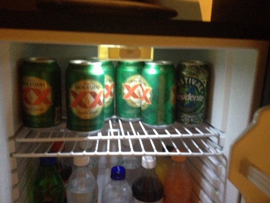 Breathless Punta Cana Resort & Spa : My fridge was fully stocked with the essentials :)