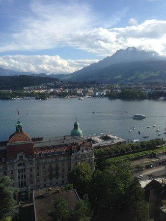 Art Deco Hotel Montana Luzern: 部屋からの眺望