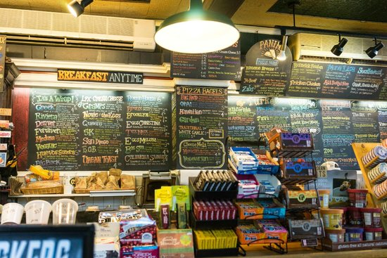 Collegetown Bagels : the great wall o food