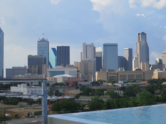 NYLO Dallas South Side: Dallas skyline from the NYLO rooftop