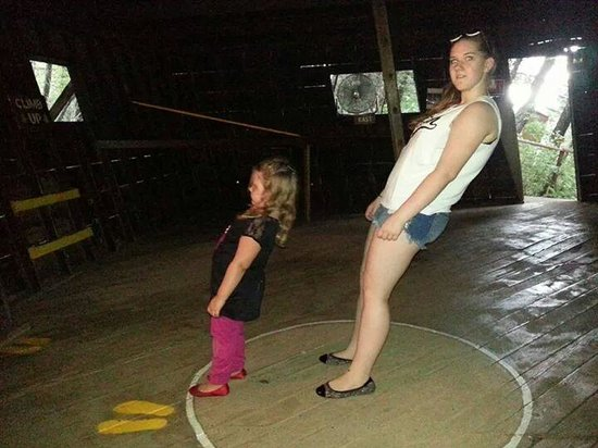 Montana Vortex and House of Mystery: daughter and niece enjoying the vortex