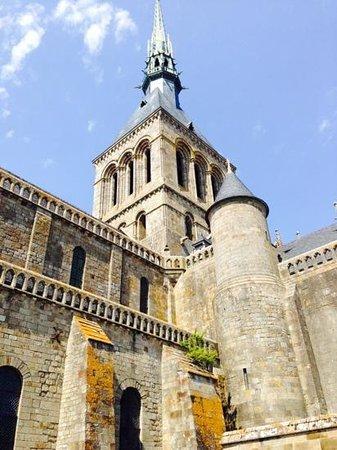 Abbaye du Mont-Saint-Michel : the Abbaye spire