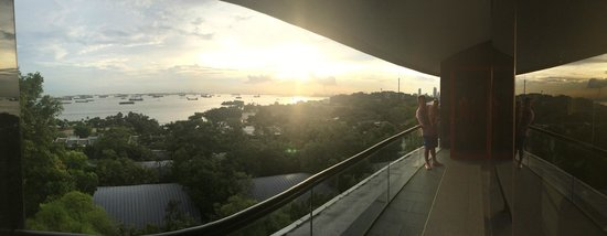 Capella Singapore: View from the Balcony, Superior Ocean View