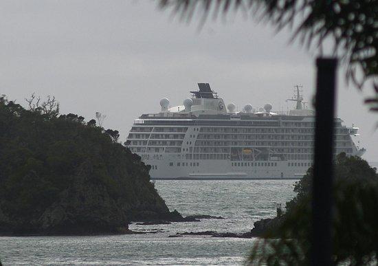 Bounty Motel: Cruise ship in the Bay.
