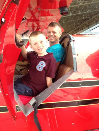 Classic Biplane Tours: My son and me prior to our flight. They're great with kids!