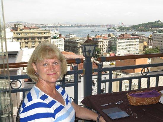 Galata La Bella Hotel : View from Rooftop Restaurant