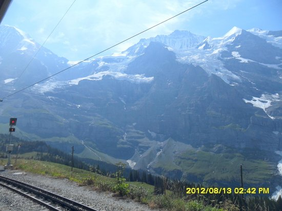 Jungfrau: snow-capped mt. on the way