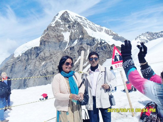 at the top of Jungfrau