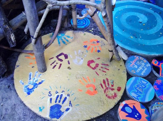 Chill Out House: Washroom Tile - All our handprints