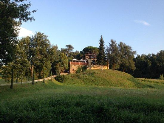 Villa Poggio di Gaville: from the path