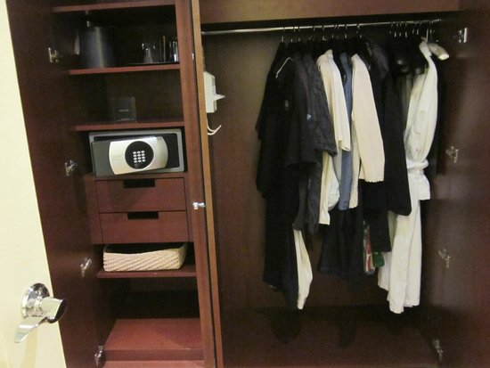 Sofitel Washington DC: closet-this is the only drawer space for clothes