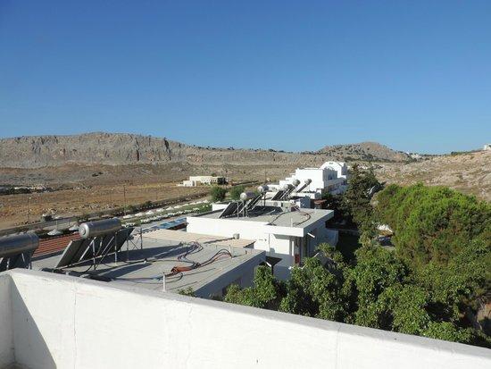 Lindos Sun Hotel: vue terrasse
