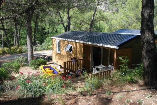 Camping la Vallee Heureuse: Vue sur notre mobil-Home