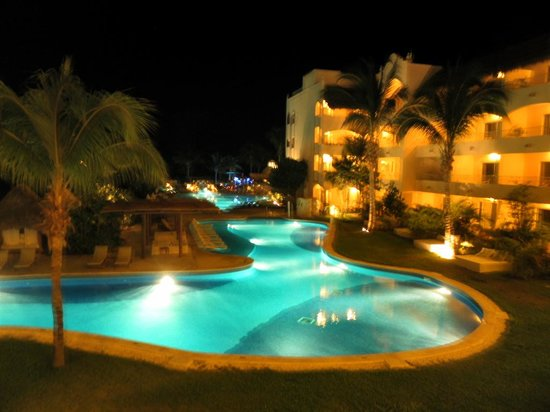Excellence Riviera Cancun: view from our room at night
